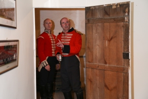 Captain Willard and Major Barbarie in the secret room