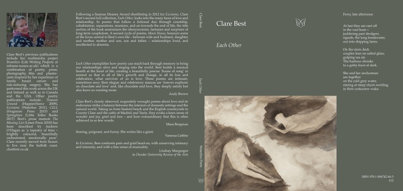 Cover - Each Other - poetry collection by Clare Best
